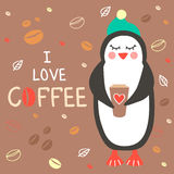 I love coffee. Royalty Free Stock Photography