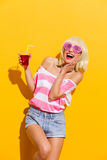 I love this cold drink Royalty Free Stock Image