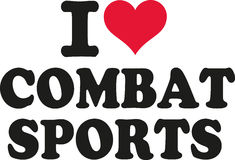 I love combat sports. With red heart royalty free illustration