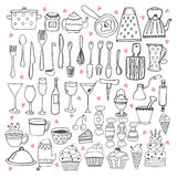 I love cooking. Kitchen utensils collection Royalty Free Stock Photo