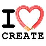 I Love Create Stock Photo