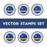 I Love Curacao vector stamps set. Stock Photos