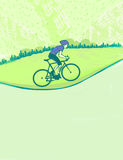 I love cycling banner Royalty Free Stock Photos