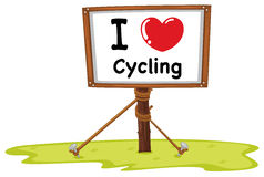 I love cycling stock illustration