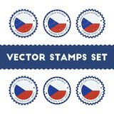I Love Czech Republic vector stamps set. Royalty Free Stock Images