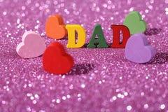 I Love Dad stock image
