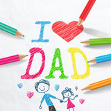 I LOVE DAD.father's day card. Stock Photography