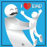 I love dad. happy father`s day card. Royalty Free Stock Images