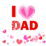 I love dad happy fathers day card vector Stock Images