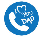 I Love Dad Icon. Design Royalty Free Stock Images