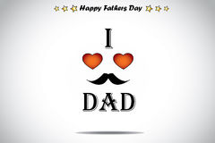 I love dad red love heart abstract fathers day illustration art Stock Photo