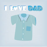 I love dad shirt. Over blue background vector illustration Royalty Free Stock Photos