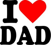 I love Dad. Slogan vector Stock Image