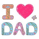 I love dad. Stock Photo