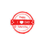 I love dad vector stamp Royalty Free Stock Photos