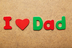 I love dad Stock Photography
