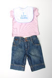 I love daddy baby clothes Stock Photography