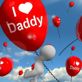 I Love Daddy Balloons Shows Affectionate Feelings for Dad Stock Photography