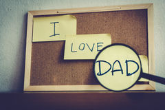 I love Daddy. Royalty Free Stock Photos