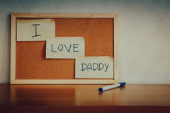 I love Daddy. Stock Photos