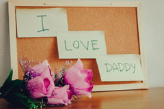 I love Daddy. Stock Photography