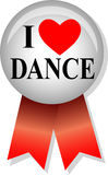 I Love Dance Button/eps Stock Image