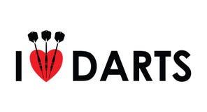 I love the darts Stock Photo