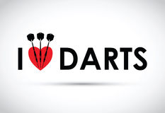 I love the darts Royalty Free Stock Images