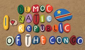 I love The Democratic Republic of the Congo Stock Image