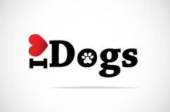 I Love Dogs stock illustration