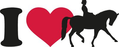I love dressage horse with rider. Sports vector Stock Photos