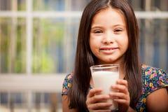 I love drinking milk Stock Photo