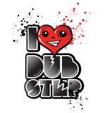 I love dub step with happy  heart Stock Photo