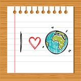 I love earth. Illustration Stock Images
