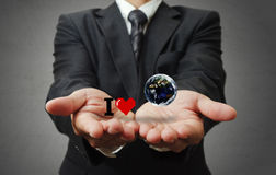 I love the earth as concept Royalty Free Stock Images