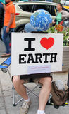 I Love Earth Sign Stock Images