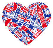 I love England! vector illustration