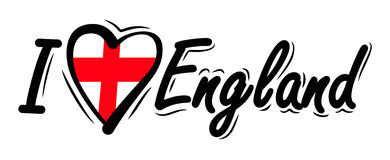 I Love England vector Royalty Free Stock Images