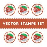 I Love Eritrea vector stamps set. Royalty Free Stock Image