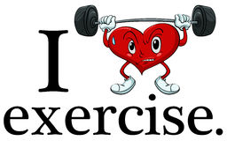 I love exercise Stock Images