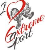 I love extreme sport.  BMX rider - vector Royalty Free Stock Photos