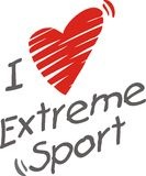 I love extreme sport. Stock Images