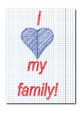 I love family ,letter Stock Image