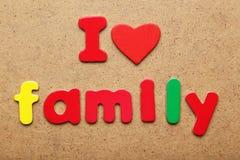 I love family Stock Image