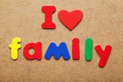 I love family Royalty Free Stock Photo