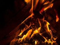 Blurry fire. I love the fire because of it`s share brute force and the close connection it has with our development Stock Photo