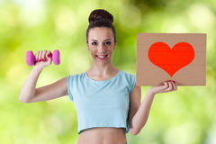 I love fitness Royalty Free Stock Images
