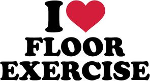 I love floor exercise. Sports vector Royalty Free Stock Photography