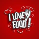 I Love Food Royalty Free Stock Image