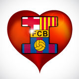 I love footbal club barcelona. Royalty Free Stock Images